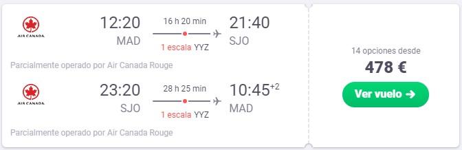 vuela a costa rica desde 239 euros trayecto