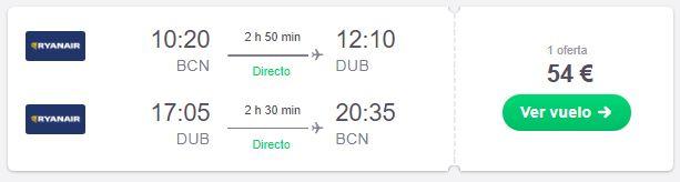 Vuela a Dublín desde 27€ trayecto