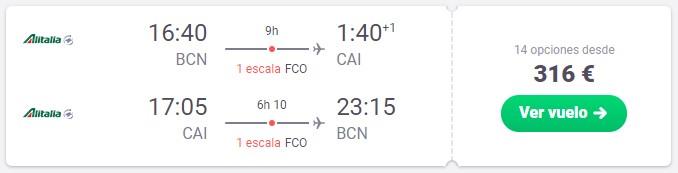 vuela a egipto desde 158 euros trayecto