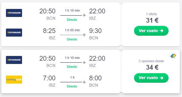 Vuela a Ibiza en verano desde 15 euros trayecto