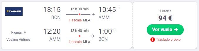 vuela a jordania desde 47 euros trayecto