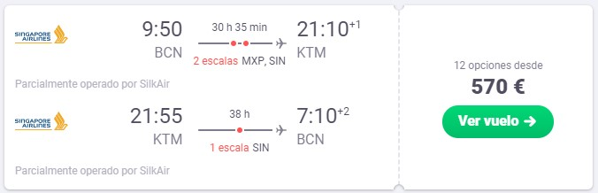 vuela a katmandu y singapur desde 285 euros trayecto