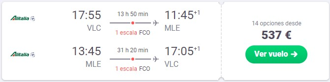 vuela a maldivas en marzo desde 268 euros trayecto