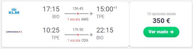 vuela a taiwan desde 175 euros trayecto