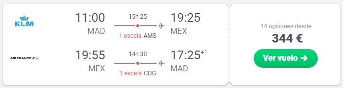 vuela mexico desde 172 euros en marzo