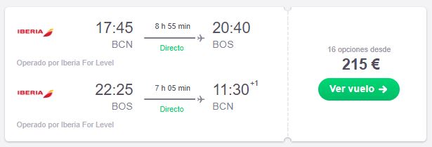 ¡WOW! Vuelo a Boston desde 107€ trayecto