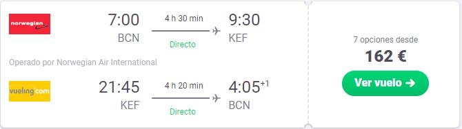 vuelo a islandia desde 81 euros trayecto
