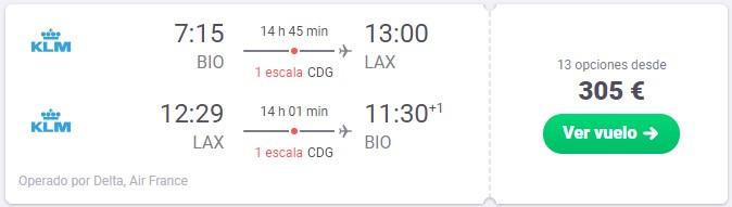 vuelo a los angeles desde 152 euros trayecto