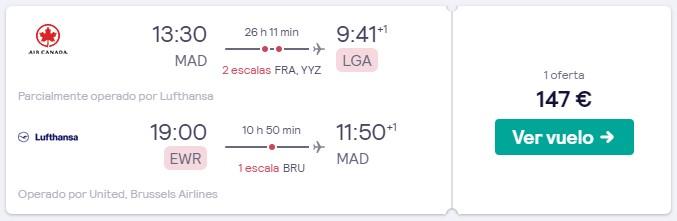 vuelo a nueva york desde 73 euros trayecto
