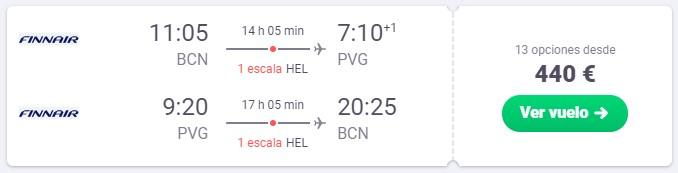 vuelo a shanghai en junio desde 220 euros trayecto
