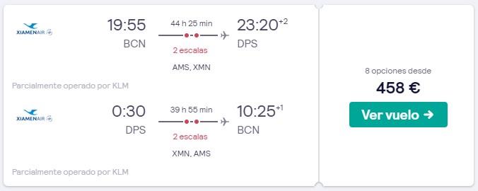 vuelos a bali en marzo 2020 desde 229 euros trayecto