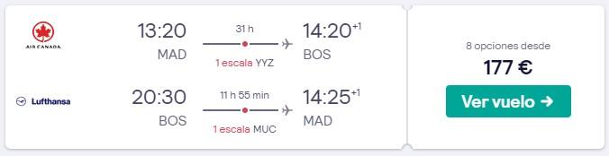vuelos a boston en semana santa desde 88 euros trayecto