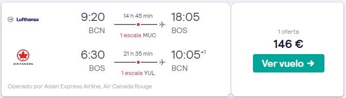 vuelos a boston y canada desde 73 euros trayecto en mayo 2020