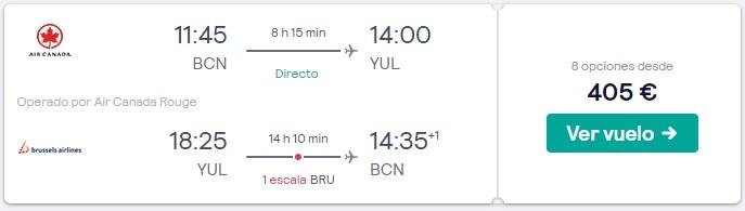 vuelos a canada en semana santa 2020 desde 202 euros trayecto
