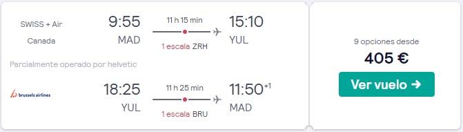vuelos a canada en semana santa desde 202 euros trayecto
