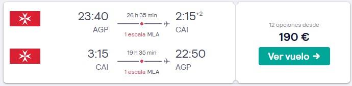 vuelos a egipto y malta en verano 2020 desde 95 euros trayecto