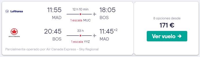 vuelos a estados unidos y canada en puente de mayo 2020 desde 85 euros trayecto