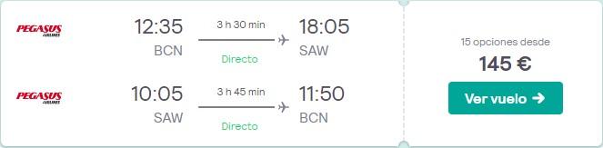 vuelos a estambul desde 72 euros en febrero 2020