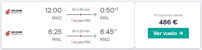 vuelos a filipinas en verano 2020 desde 243 euros trayecto