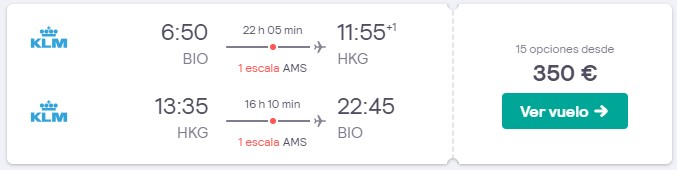vuelos a hong kong desde 175 euros trayecto en noviembre 2019