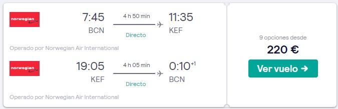 vuelos a islandia desde 110 euros trayecto en febrero 2020