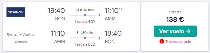 vuelos a jordania desde 69 euros trayecto en enero 2020
