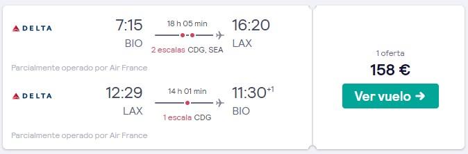vuelos a los angeles desde espana en 2020 desde 79 euros trayecto