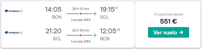 vuelos a santiago de chile en mayo desde 275 euros trayecto