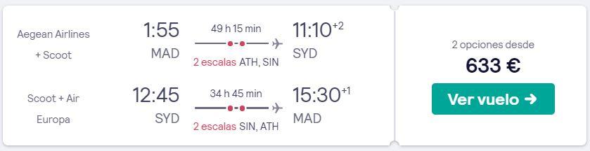 vuelos a sidney en verano desde 316 euros trayecto
