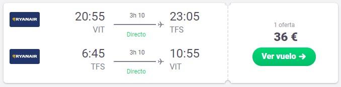 vuelos a tenerife desde 18 euros en verano