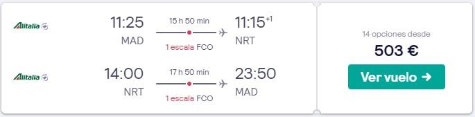 vuelos a tokio en marzo 2020 desde 251 euros trayecto