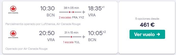 vuelos a varadero y canada en semana santa 2020 desde 230 euros trayecto