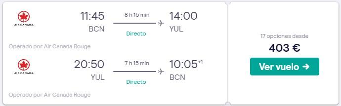 vuelos directos a canada en puente de mayo 2020 desde 201 euros trayecto