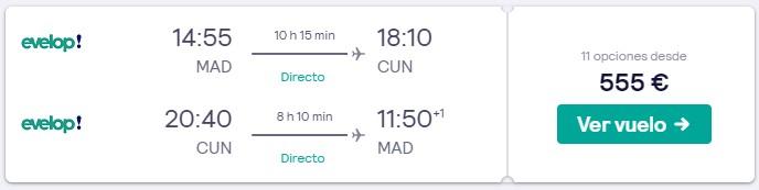 vuelos directos a cancun en verano desde 277 euros trayecto