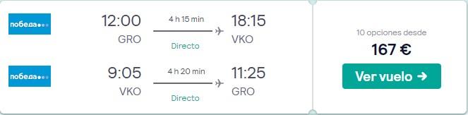 vuelos directos a moscu en marzo 2020 desde 83 euros trayecto