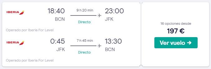 vuelos directos a nueva york desde 98 euros trayecto en marzo 2020