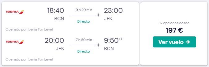 vuelos directos a nueva york desde 98 euros trayecto