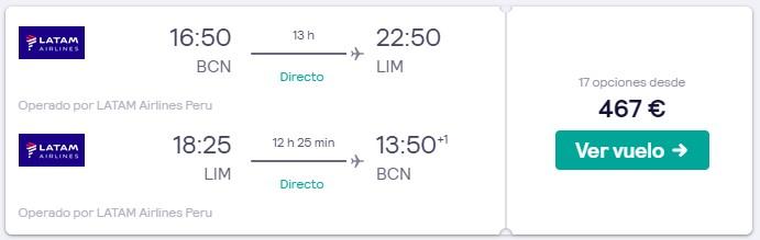 vuelos directos a peru en junio 2020 desde 233 euros trayecto